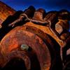 Old farm machinery parts, Park City, UT