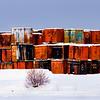 Dock yard at the Port in Anchorage, Alaska.