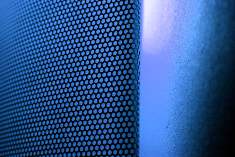 Abstract background of light and color. Blue.