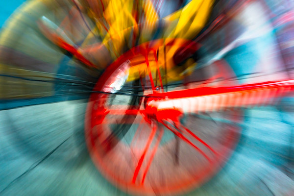 Abstract of bicycle wheels.