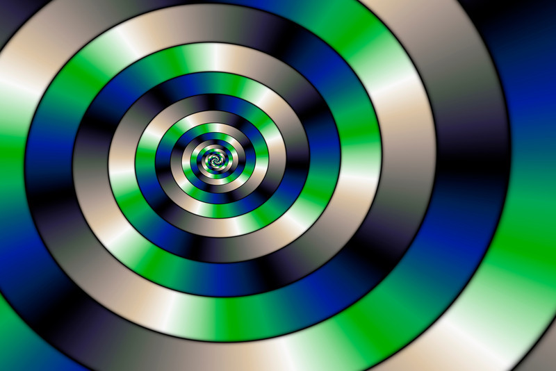 Blue and green spiral serie (3)