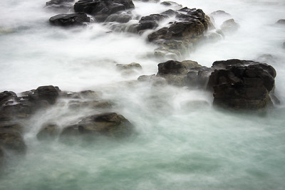 A time lapse of the swirling sea off the coast of Noosa Heads National Park, Noosa Heads, Australia.