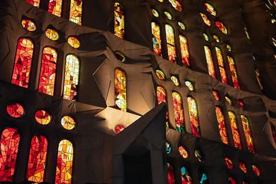 Sagrada Familia Interior Glass