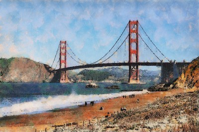 Golden Gate Bridge From Fort Baker_Cezanne