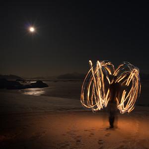 Moonlit Poi, Adelaide Island, Antarctica