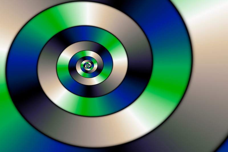 Blue and green spiral serie (2)