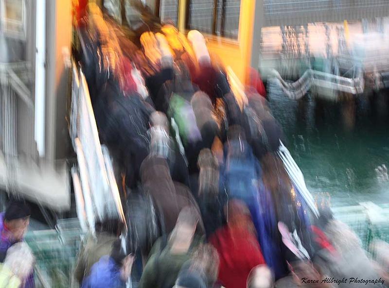 Ferry Passengers, Bainbridge Island