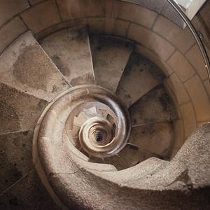 Sagrada Familia Passion Facade Stairwell