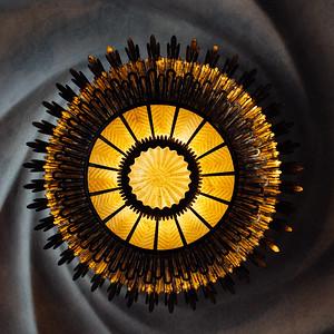 Casa Batllo Spiral Ceiling Square