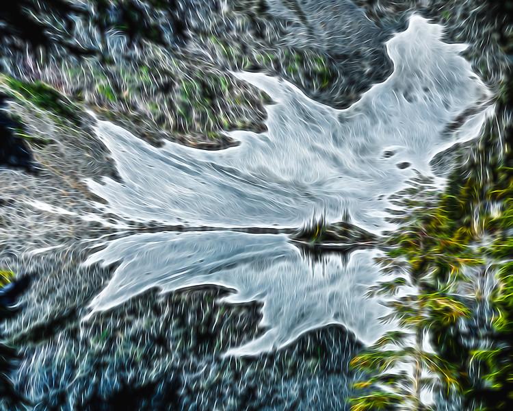 Big Heart Lake Reflection