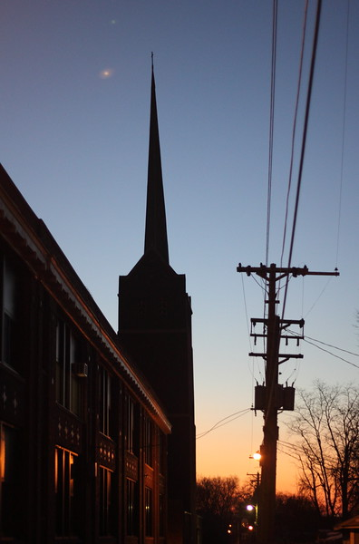 Steeple at Sunset