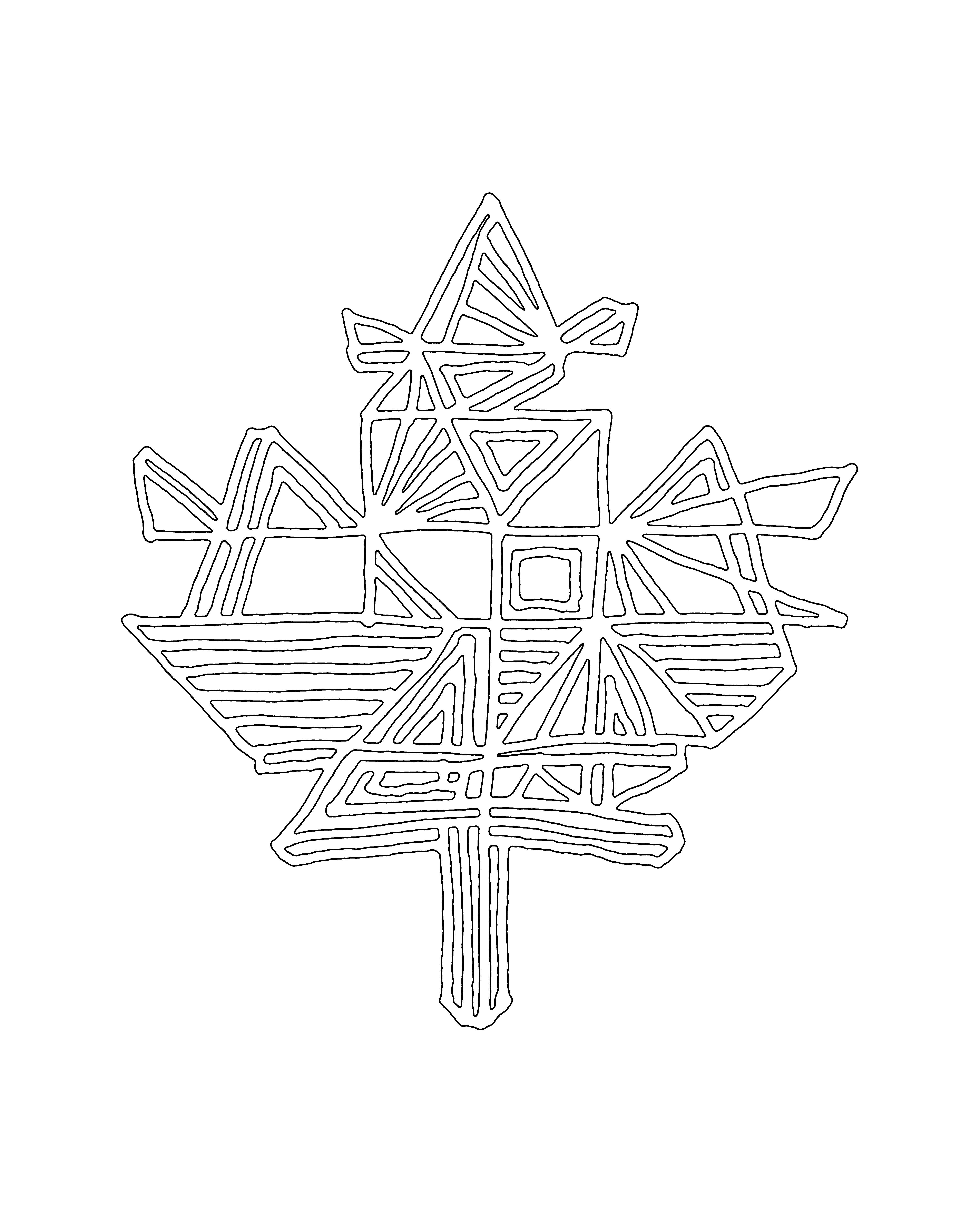 Canadian Maple Leaf Colouring Page 5853
