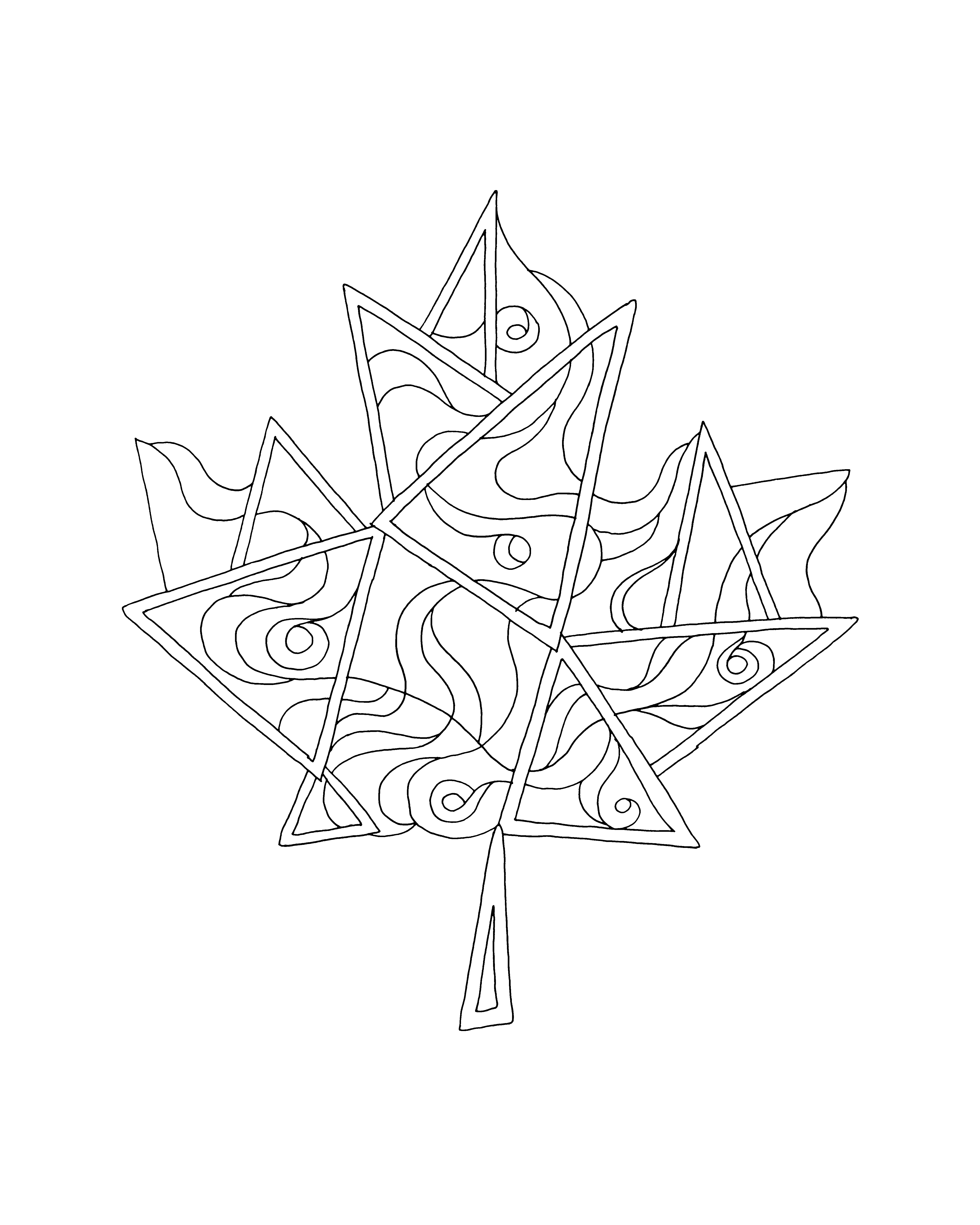 Canadian Maple Leaf Colouring Page 5780