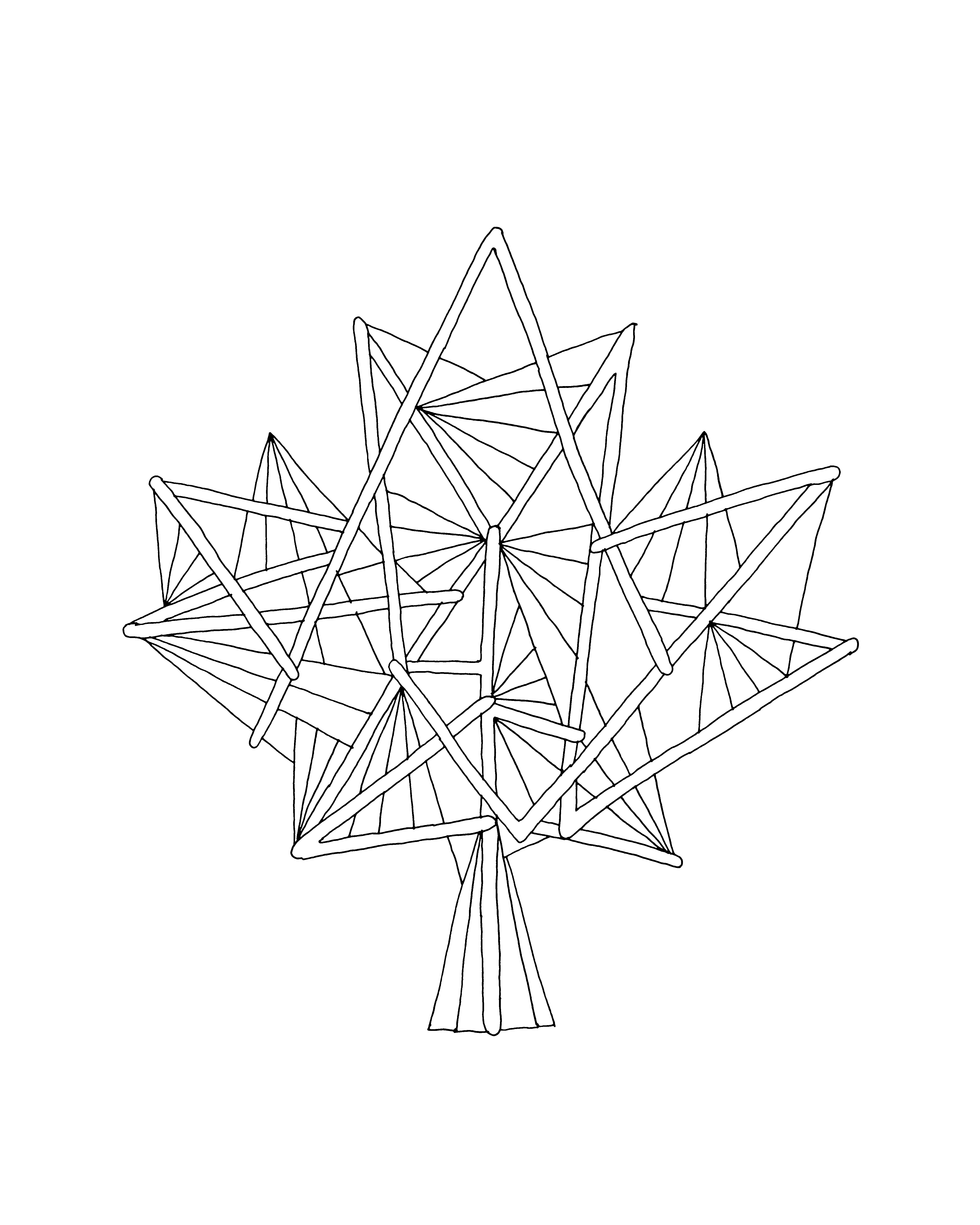 - 10,000 Pages: Canadian Maple Leaf Colouring Page 5782