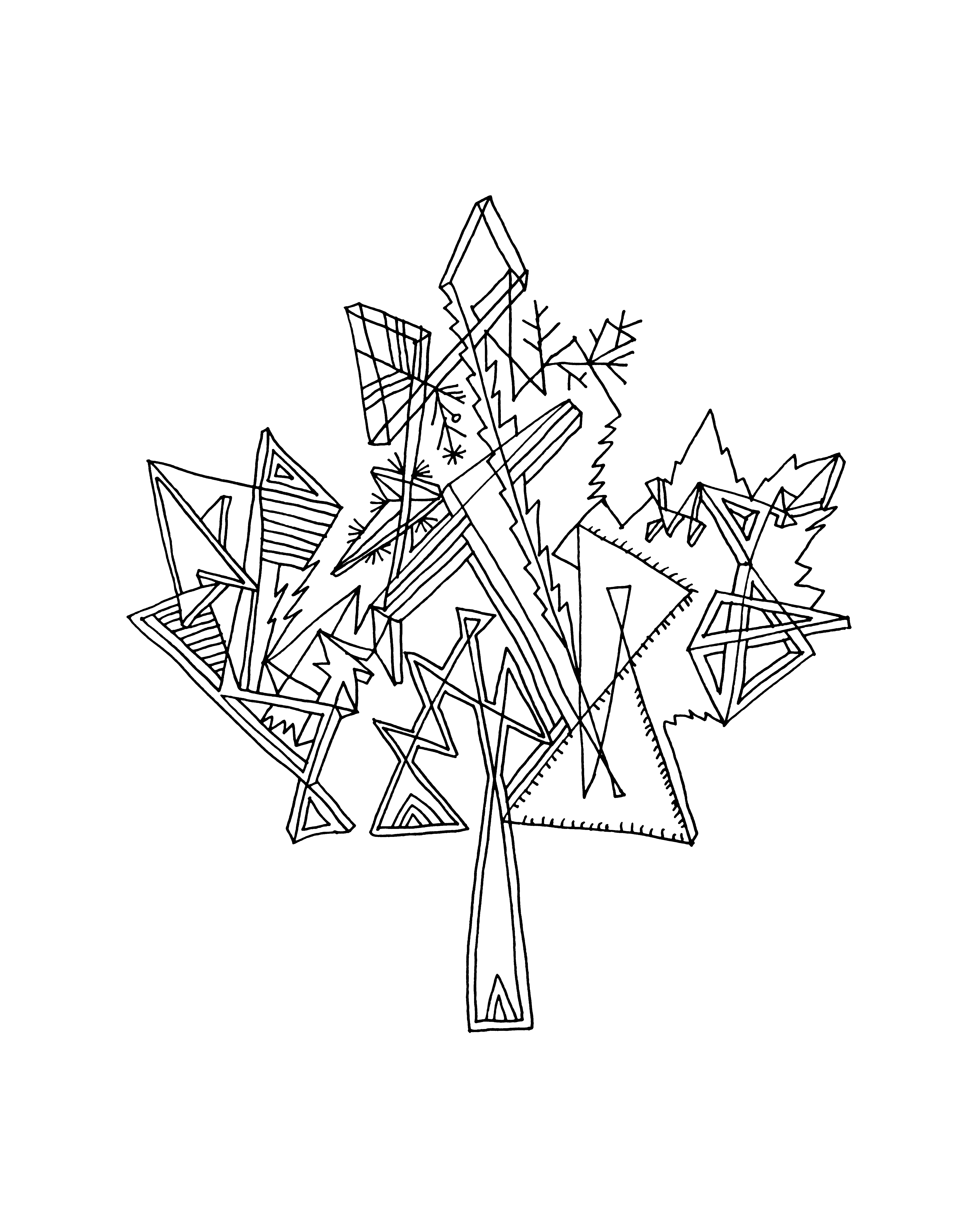10 000 pages canadian maple leaf colouring page 5826