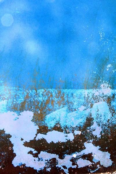 Boatscape Series 2014 - Winter Moon Rise ~ Branford Landing Marina, Branford, CT