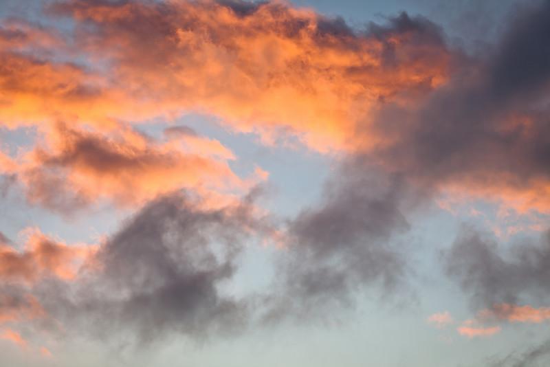 Clearing Sky at Sunset, Lake Chabot, Oakland CA