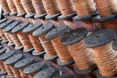 Spools, Plymouth Cordage Company Ropewalk, established 1824, Mystic Seaport, CT