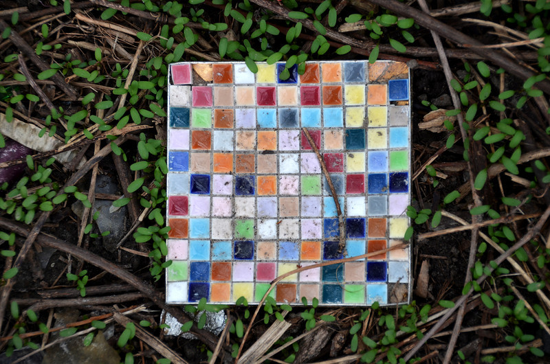 Riverside mosaic. Shore of the Don River. Toronto. May 2011.