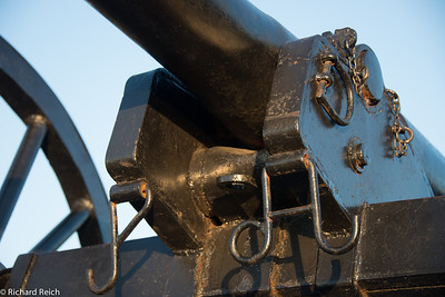 Piece of a canon in Washington Artillery Park which overlooks the Mississippi River