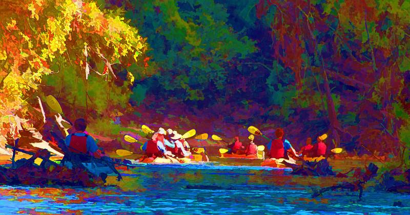 Kayaking Buffalo Bayou, December 2010