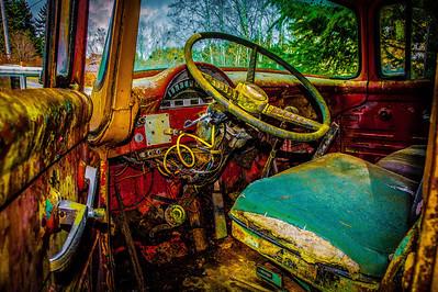 rusty truck interior-2