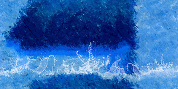 abstracted ocean ...
