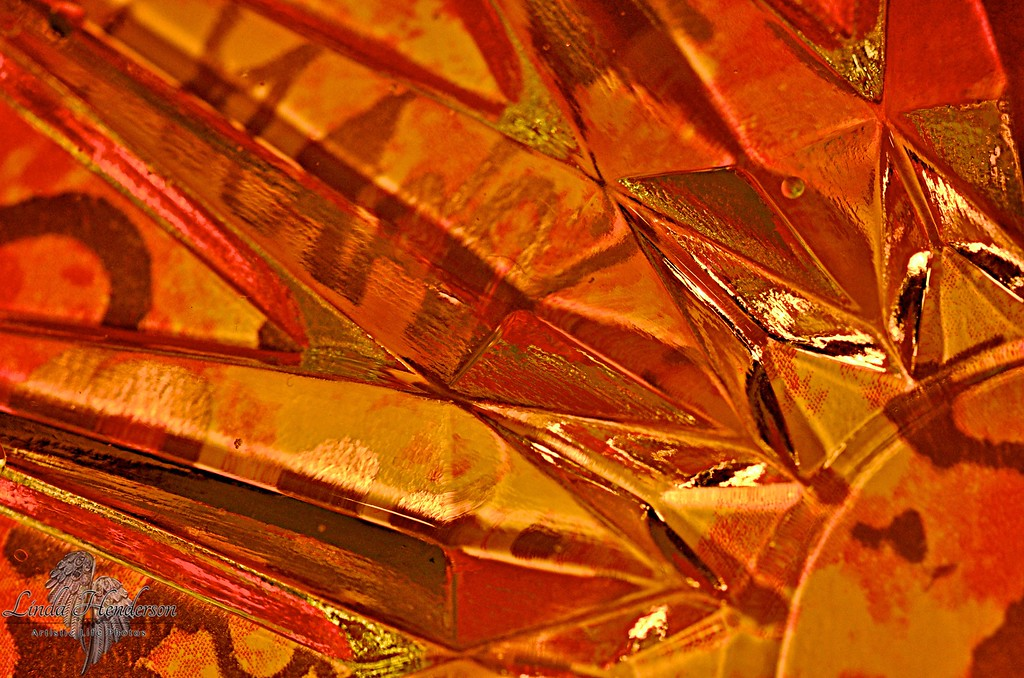 Orange Colour Glass Explosion