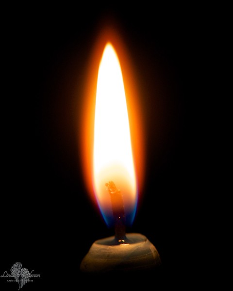 Green Candle Flame