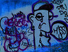 "Graffitti In Blue...""Miss U""<br /> <br /> Some pp used..."
