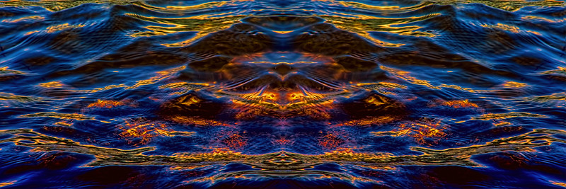 Watery Gold Wings : Symmetry Series #59