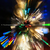 Bright color backgrounds explosion effect of zoom blur lights