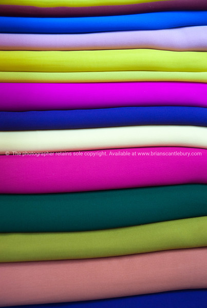 Array of colored fabric