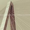 Veterans Memorial stay bridge across the Mississippi River in St Louis, Illinois, USA