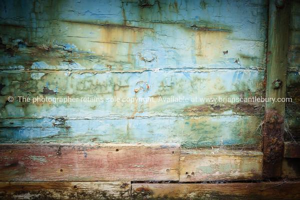 Abstract closeup of old abandoned ships hull.