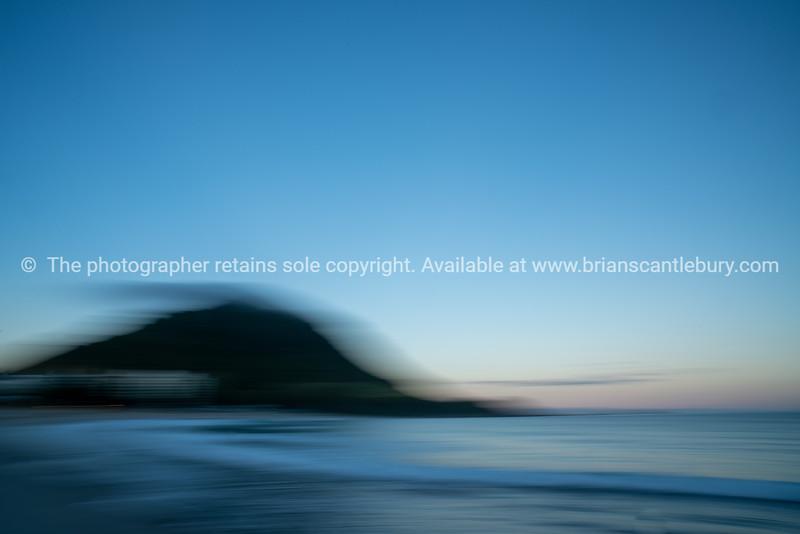 Mount Maunganui landmark abstract using intentional camera movement