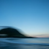 Mount Maunganui landmark abstract using intentional camera movement