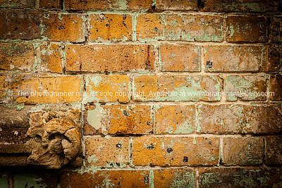 Brick wall background, vignette.