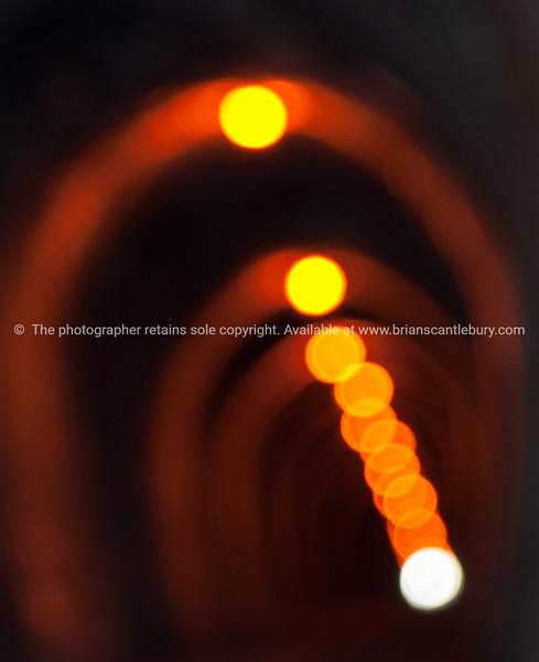 Photo art tunnel lights