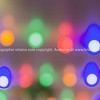 Rows of colored party lighs defocused