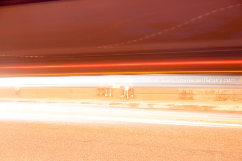 Lightstreams, Havana by night along the Malecon.