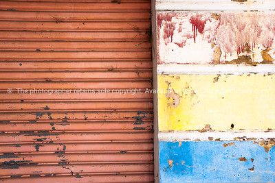 Grunge building abstract.