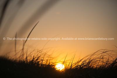 Sunset over Cape Cod Beach.