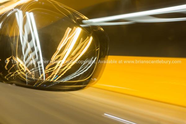 Rear vision mirror abstract