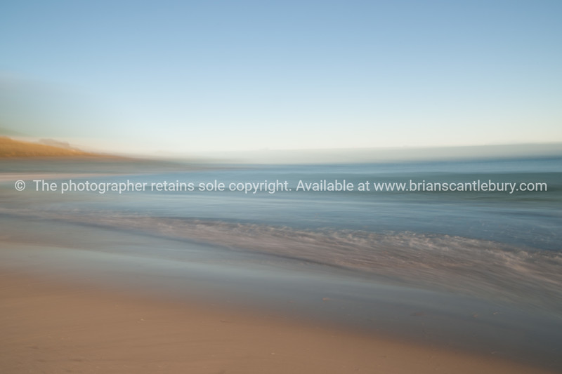 Beach abstract, motion blur.