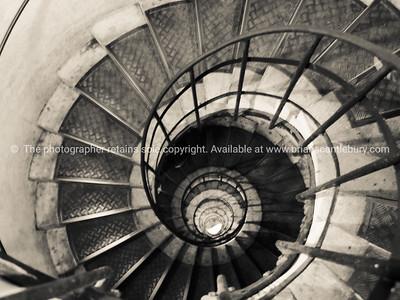 Staircase spiral, monochrome.