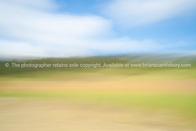 Landscape abstract, motion blur.