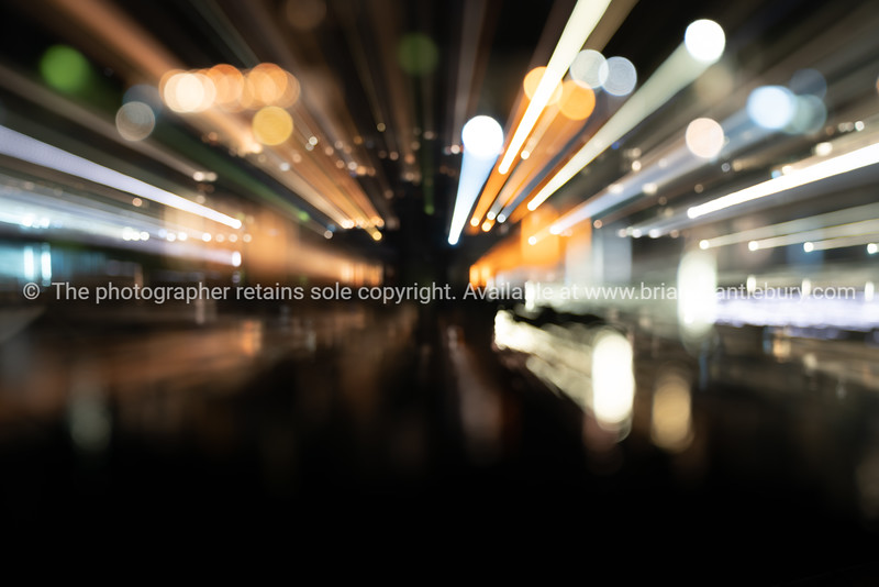 Zoom blur urban lights abstract background image
