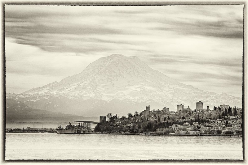 Mt. Rainier Over Tacoma