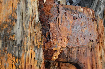 rusted iron and old wood